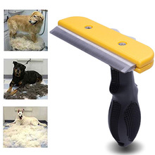 Pet Dog Comb Stainless Steel For Fur Cleaning Hair Removal Brush Cat Grooming Combs Tool Soft Handle Pets Supplier Accessories pet hair deshedding dog cat brush comb sticky hair gloves hair fur cleaning for sofa bed clothe pets dogs cats cleaning tools