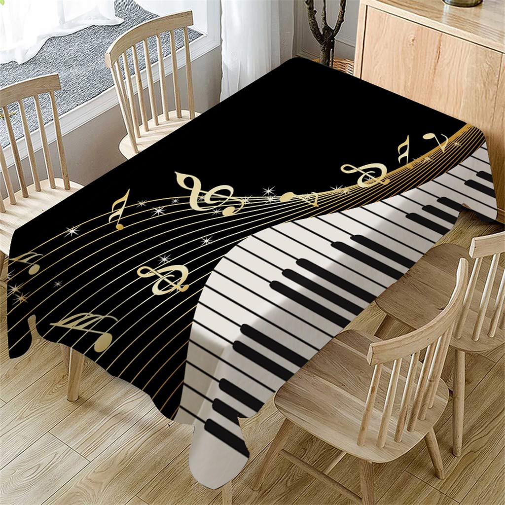 45 Black White Tablecloth Diy Decor For Dining Line Table Piano Music Pattern Table Cloth Rectangular Cover Dining Linens Tablecloths Round Tablecloths For Sale From Babykai 13 47 Dhgate Com