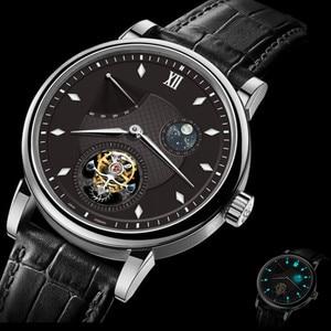 Image 2 - سوبر BGW9 مضيئة الأيدي توربيون الرجال ساعة الأصلي ST8001 التقويم القمر المرحلة توربيون الرجال ساعات آلية التمساح