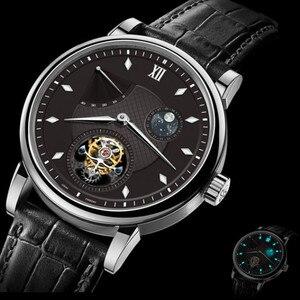Image 2 - Super BGW9 montre mécanique pour hommes à Tourbillon mains lumineuses, Original, ST8001 calendrier, Phase lunaire, Tourbillon, Alligator