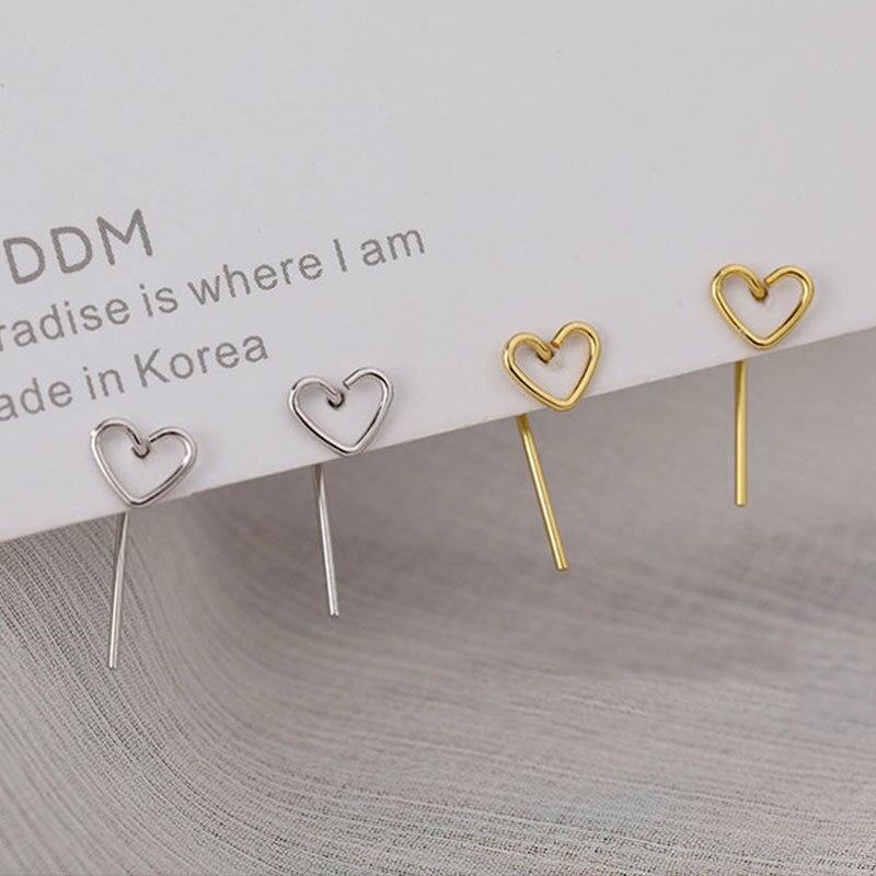 2021 minimalismo amore orecchini nuovo temperamento coreano orecchini a cuore piccolo orecchini gioielli moda semplice regalo per ragazze