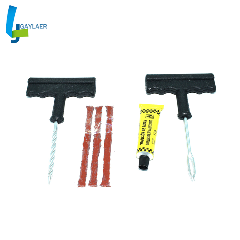 Motorcycle Repair Tool Car Tire Repair Kit 4-Piece Repair Tool Set Car Motorcycle Battery Car Tire Repair Tool Puncture Plug