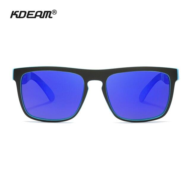 Fashion Guy's Sun Glasses From KDEAM Polarized Sunglasses Men Classic Design All-Fit Mirror Sunglass With Brand Box CE 2