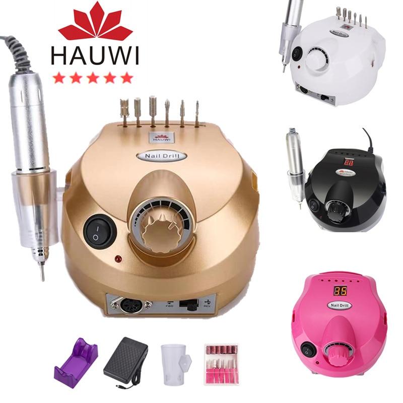 Electric Nail Drill Manicure Machine Nail File Drilling Tool Polishing Machine 35000RPM Manicure Kit