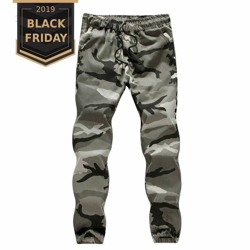 FALIZA NEW Mens Cargo Pants Men Camo Joggers Pants Spring Military Style Men's Camouflage Trousers Male Fashion Streetwear PA05