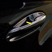 ידית דלת כיסוי Trim עבור מרצדס בנץ C class W203 2000 2007 ABS Chrome כסף