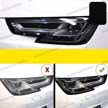 цена на Lsrtw2017 TPU Car Transparent Black Headlight Protective Film sticker for Audi A8 A6 Q5 A4 A3 Q3 A7 Q7 Q8 S3 s4 s5 s6 A5 q2