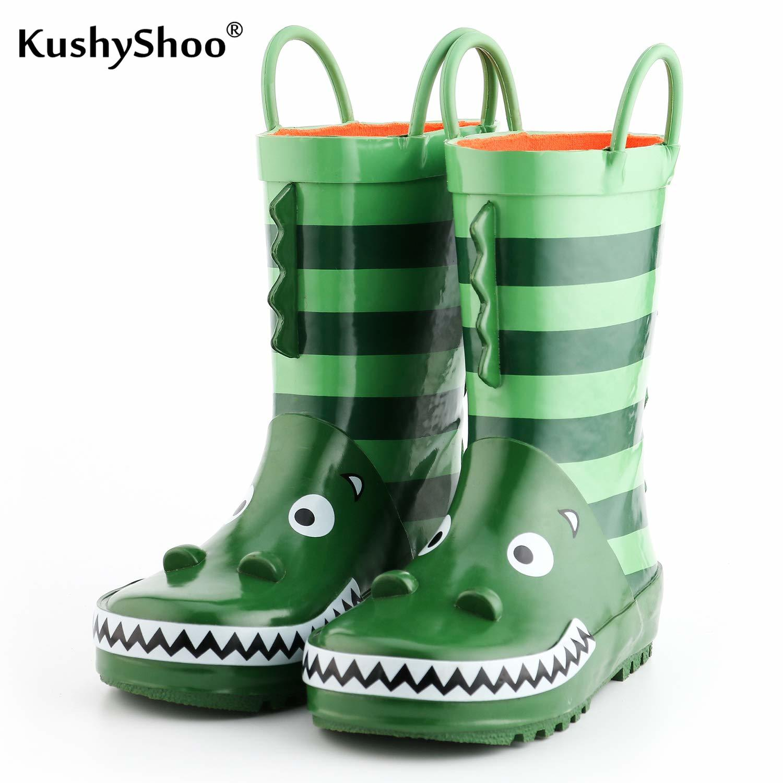 KushyShoo Kids Rain Boots Boy Rubber Boots Crocodile Patterns 3D Lovely Children Rainboots Summer Water Shoes