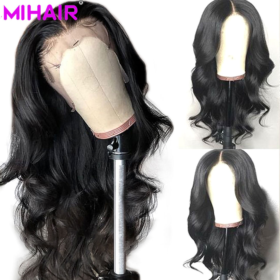 13*4 Lace Frontal Human Hair Wigs For Women Malaysian Remy Body Wave Hair Lace  Wigs With Baby Hair Pre Plucked Bleached Knots