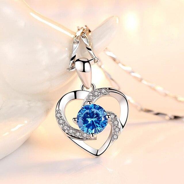 Crystal Heart Pendant & Chain 5