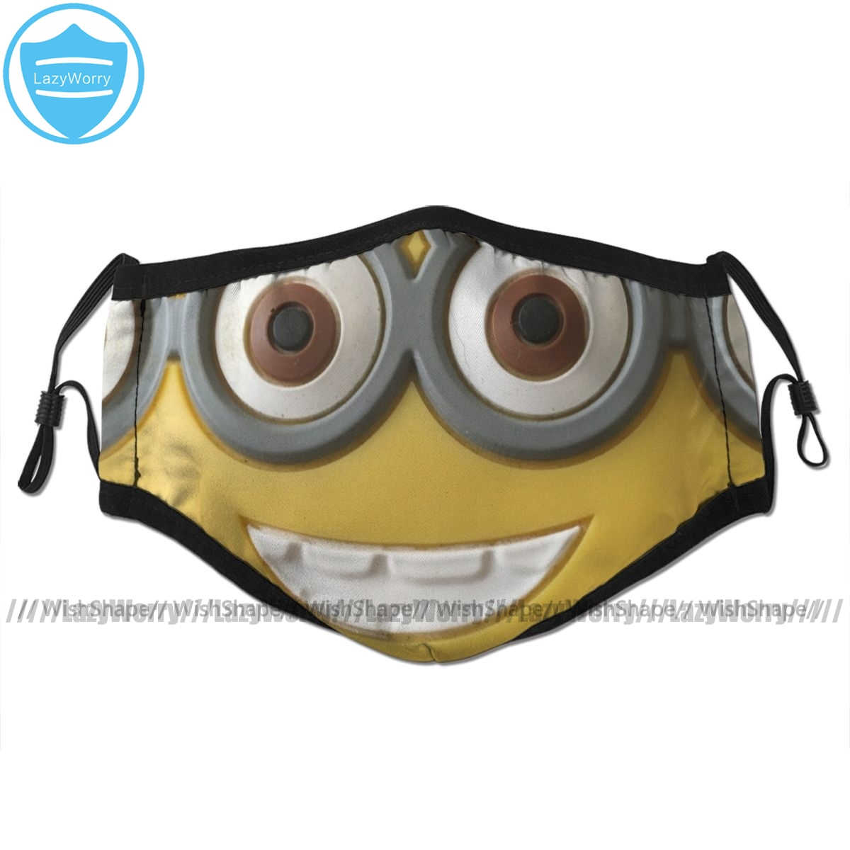 Minion Mouth Face Mask Minion Facial Mask Cool Kawai With 2 Filters For Adult