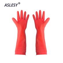 1 Pair Silicone Rubber Dish Washing Gloves Eco-Friendly Scrubber Multipurpose Household Cleaning Kitchen Bathroom Helper