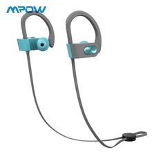 Original Mpow Bluetooth Earphones HiFi Stereo Sport Headphone Wireless Earbuds With Microphone&EVA Case For iPhone X/8/7 original mpow flame bluetooth headphones hifi stereo wireless earbuds waterproof sport earphones with mic portable carrying case