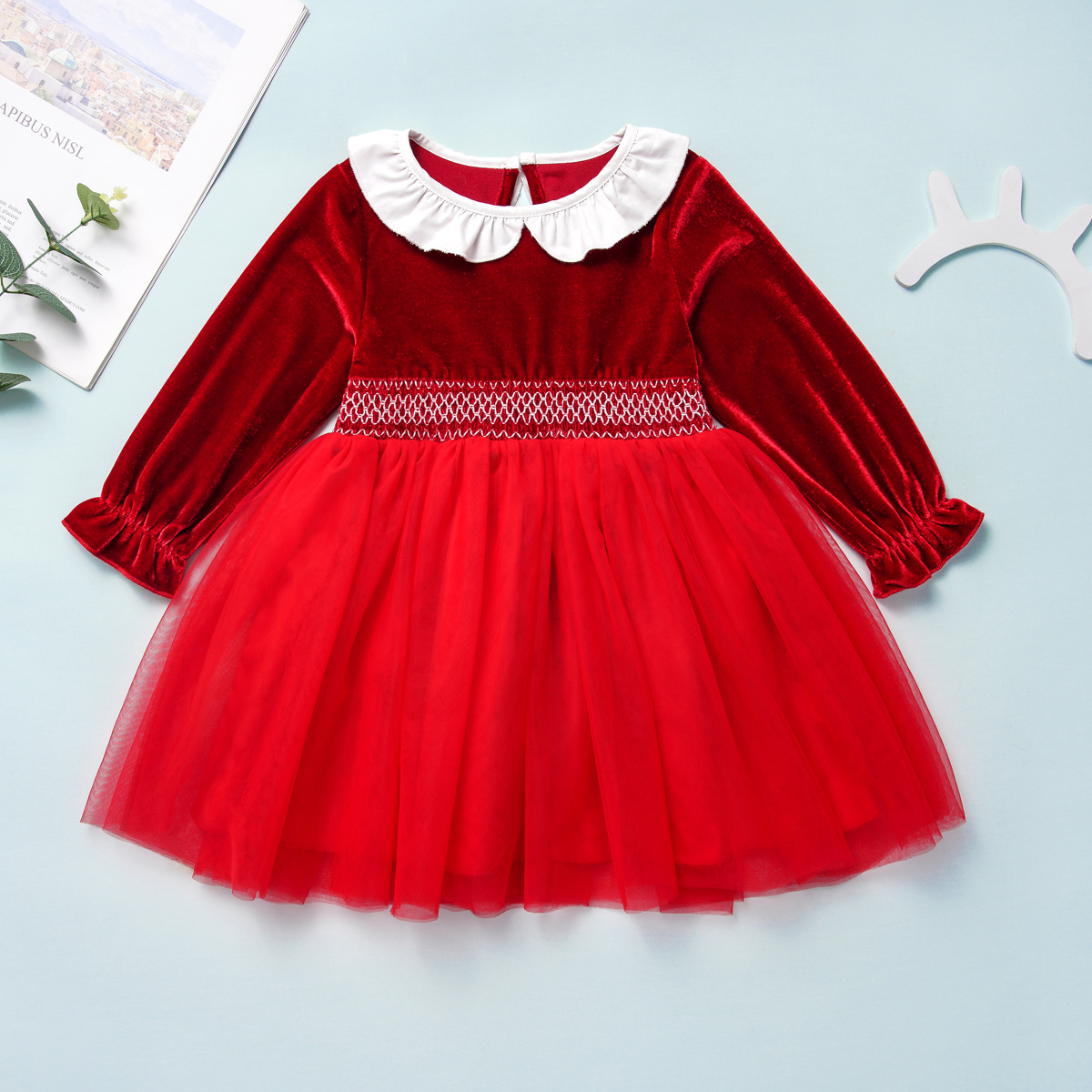 HIPAC Kids Dresses for Girls Princess Clothing Baby Dress Toddler Girl Party Clothes Velvet Draped Ball Gown Kid Children