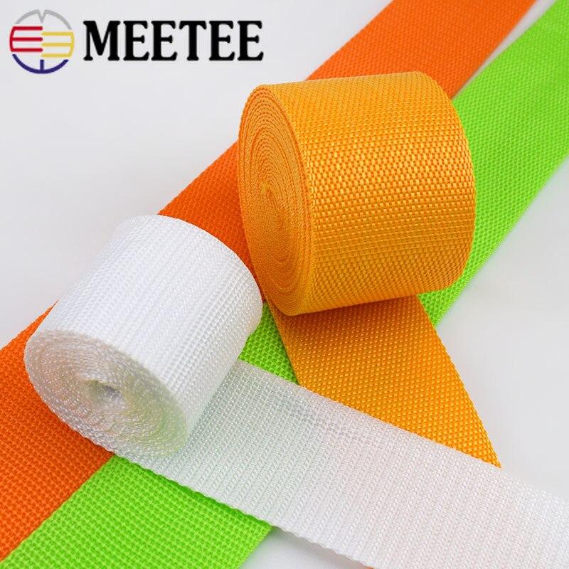 Meetee 10 метров 50 мм полиэстер нейлон PP тесьма лента для обвязки плетеный мешок ремень одежды обувь Открытый ремешок аксессуар Тесьма      АлиЭкспресс