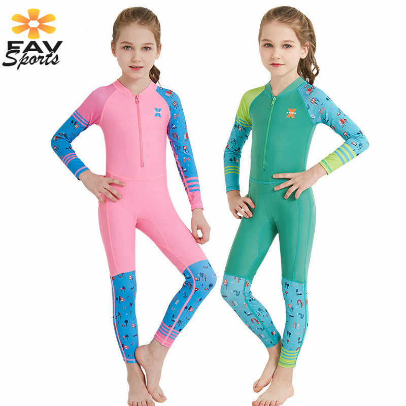 Hoge Kwaliteit Kids Wetsuit Lange Mouwen Duiken Pak UV Bescherming Quick-droog Badpak Rash Guard voor Jongen & meisje Surf Body Pak