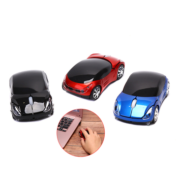 USB 2.4GH Souris Optique Voiture Style Wireless Car USB2.0 Optical Mouse Mice For Laptop PC Computer image