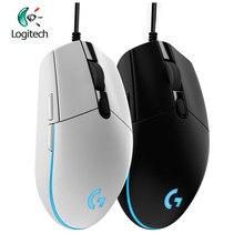 Logitech g102 gaming wired mouse óptico com fio jogo mouse 8000dpi suporte desktop/portátil suporte windows 10/8/7