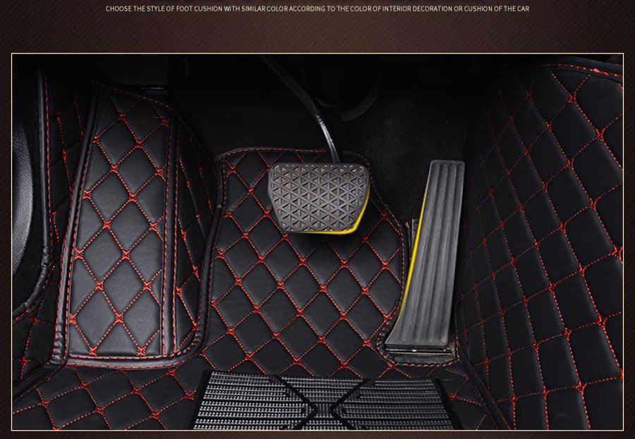 Cuir tapis de sol de voiture pour Volvo C30 S40 S60 S60L S80 S80L V40 V60 XC60 XC90 XC60 C70 voiture accessoires voiture