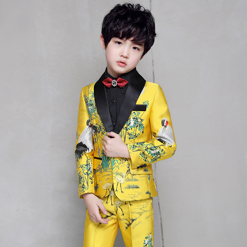 Shawl Lapel Kid/'s 3 Piece Custom Made Wedding Groom Tuxedos Boys Children Suits