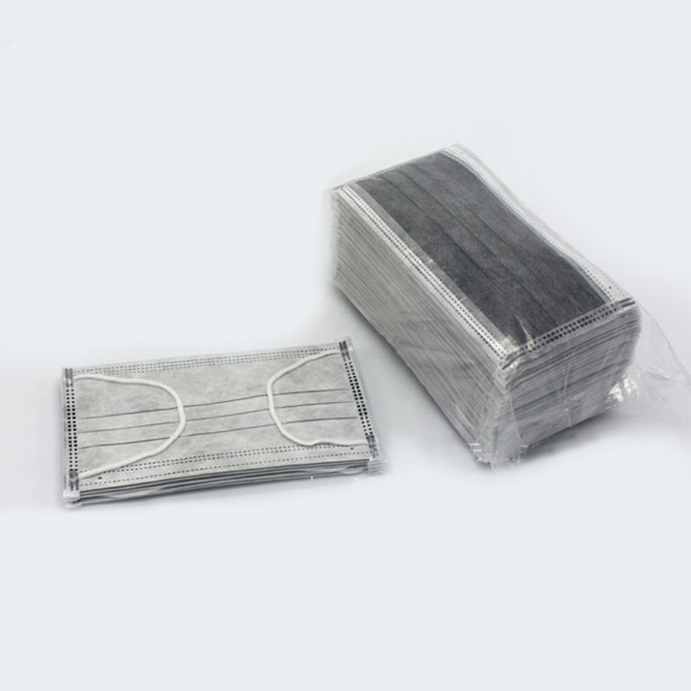 10pcs Mouth Masks Gray 4 Layers Activated Bamboo Carbon Prevent Formaldehyde Bad Smell Bacteria Proof Face Mouth Mask