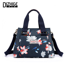 DIZHIGE Brand Floral Print Lady Handbag High Quality Canvas Multifunction Romantic Large Capacity Shoulder Messenger Basg