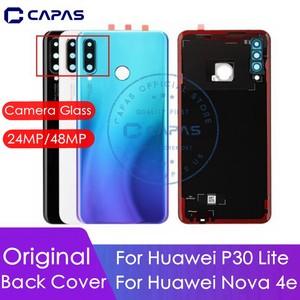 Image 1 - Ban đầu Cho Huawei P30 Lite Pin + Kính Cường Lực 24MP/48MP Cho Huawei Nova 4E Cửa Sau thay thế Chi Tiết Sửa Chữa