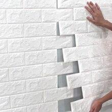 Diy Background Wallpaper 3d Brick Wall Stickers Children's Living Room Wallpaper Decorative Foam Waterproof Wallpaper