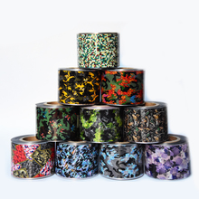10rolls 4cm*50M Camouflage Print Nail Foils Army Style Nail Art Wraps DIY Transfer Sticker Beauty Decals Tips Decoration
