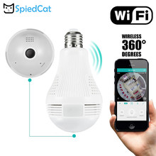 360 Degree Smart Bulb Lamp Wireless IP P2P Wifi 960P HD Panoramic Fish Eye Home Security CCTV Camera Support TF Card(China)