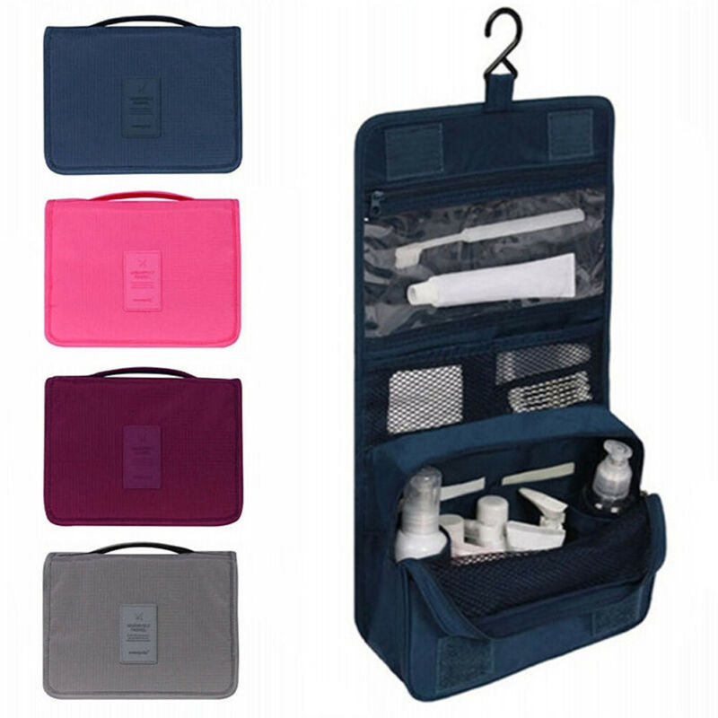 Hanging Toiletry Bag Large Kit Folding Makeup Organizer For Men & Women Travel Cosmetic Storage MakeUp Bag