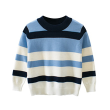 2019 Autumn new fashion sweater striped baby children clothes long sleeve boy girl sweaters Kids Round neck pullover sweater stylish long sleeve round neck color block striped patterned girl s sweater