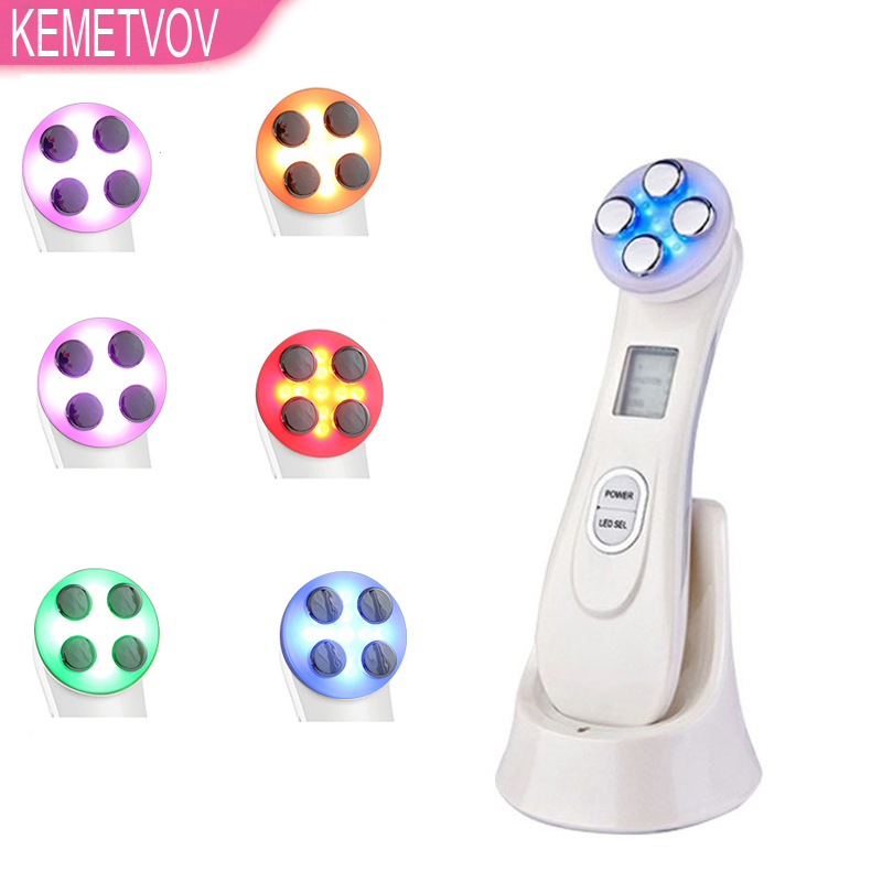 5in1RF&EMS Mesotherapy Electroporation RF Radio Frequency Facial LED Photon Device Face Lifting Tighten Wrinkle Removal Eye Care