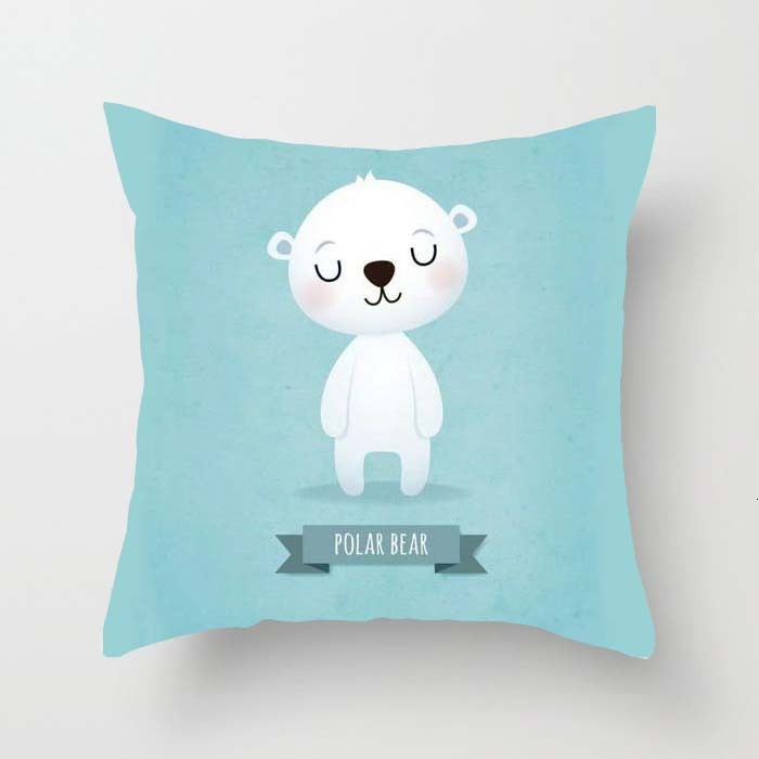 Down Automobile Pillow Lovely Animal Concise Single-sided Embrace Case Advertisement Gift To Work In An Office