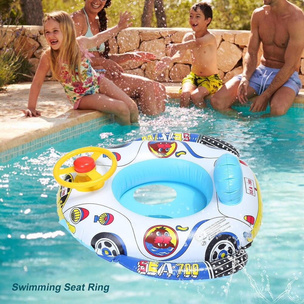 Free Shipping Kids Baby Summer Swimming Pool Swimming Ring Inflatable Swim Float Water Fun Pool Toys Swim Ring  Boat Sport