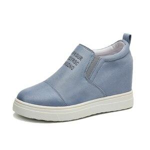 Image 2 - AARDIMI kadın mokasen Creepers Platform ayakkabılar kadın rahat ayakkabılar kadın takozlar Sneakers kadınlar üzerinde kayma düz ayakkabı sonbahar