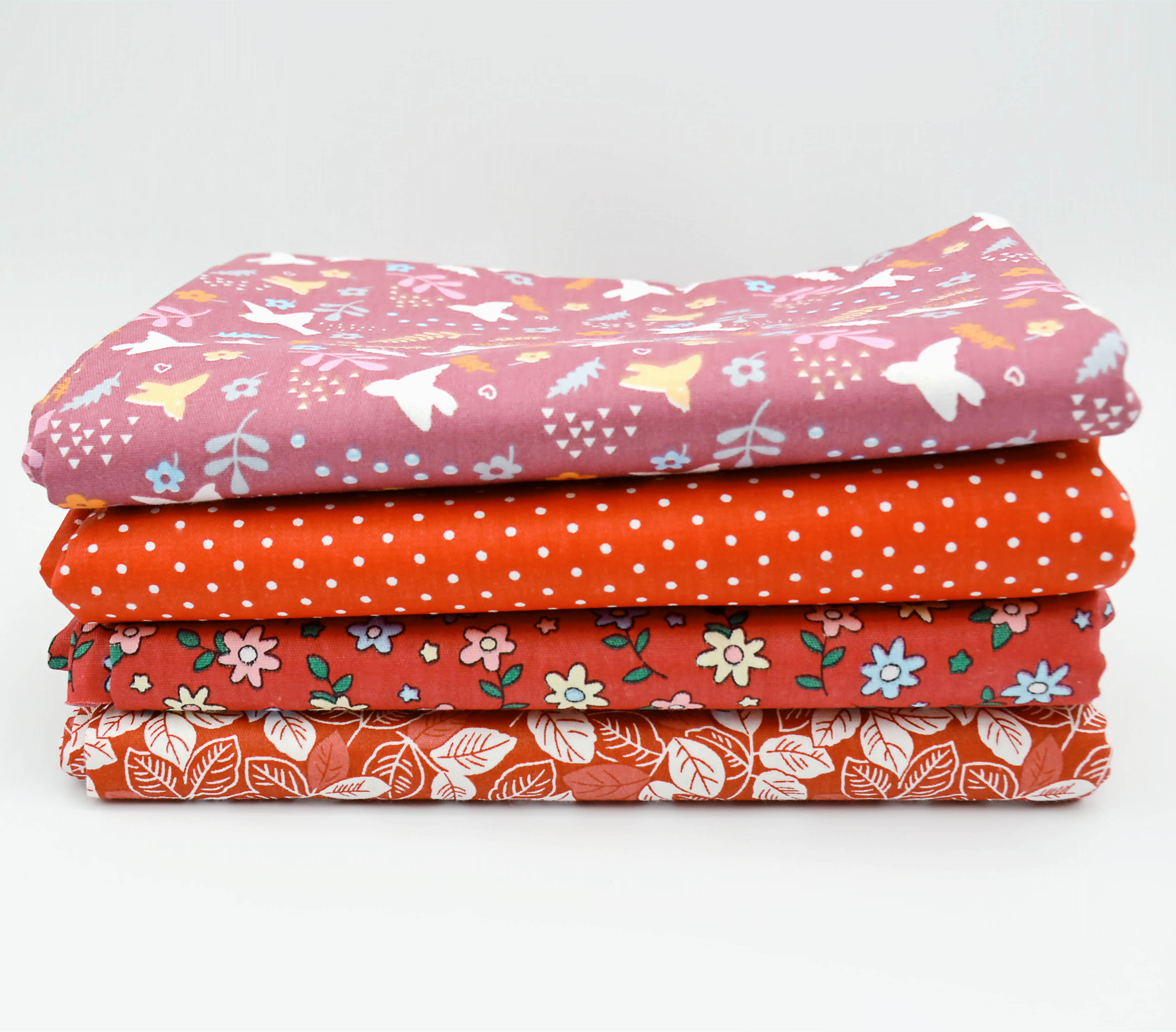 4pcs Hand-Dyed Cotton Quilt Fabric for Purse Handbag Cushion DIY Patchwork