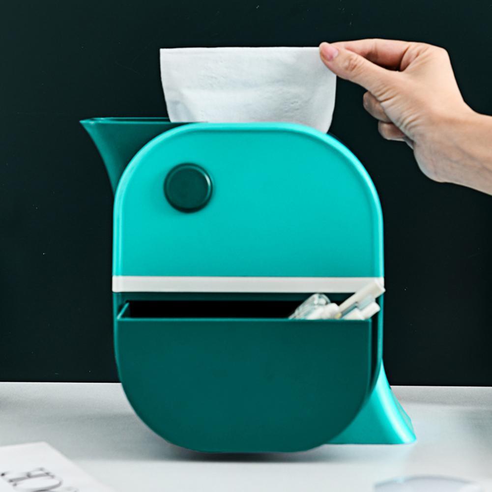 Toilet Paper Cases 3 in 1 Design Non-slip Plastic Tissue Box Trash Can for Indoor