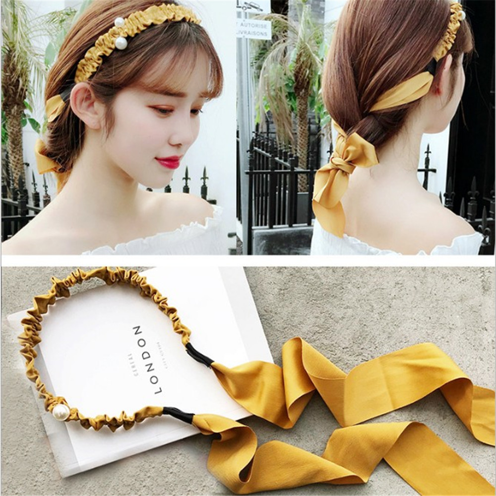 New Fashion Korean Elegant Design Imitation Pearl Hair Band Girls Women Headband Wedding Party Bridal Hair Hair Accessories
