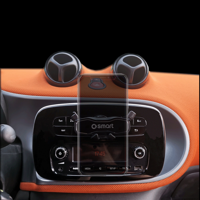 Car Phone Holder Hidden Stand Navigation GPS Bracket Interior Decoration For Smart fortwo forfour 451 453 Universal Accessories