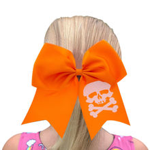 Halloween hair accessories Girls elastic bands Children big bows rubber ring Kids band baby BB038