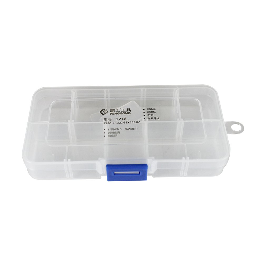 1218 Plastic Tool Box Transparent Toolbox Electronic Components Screw Storage Box Electronic Plastic Parts Tool Boxes