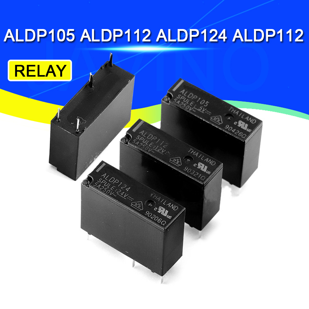 2PCS <font><b>5A</b></font> Relay ALDP105 ALDP112 ALDP124 ALDP112 5V 12V <font><b>24V</b></font> <font><b>5A</b></font> 250V <font><b>4PIN</b></font> a group of normally open ALD112 12V 3A image