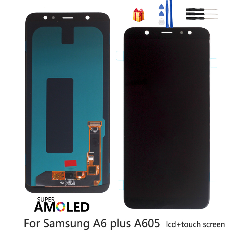 For <font><b>Samsung</b></font> <font><b>Galaxy</b></font> <font><b>A6</b></font> Plus <font><b>A6</b></font>+ A605 SM-A605F Screen LCD <font><b>Display</b></font> Replacement For <font><b>Samsung</b></font> A605FN A605G A605GN Screen LCD Amoled image