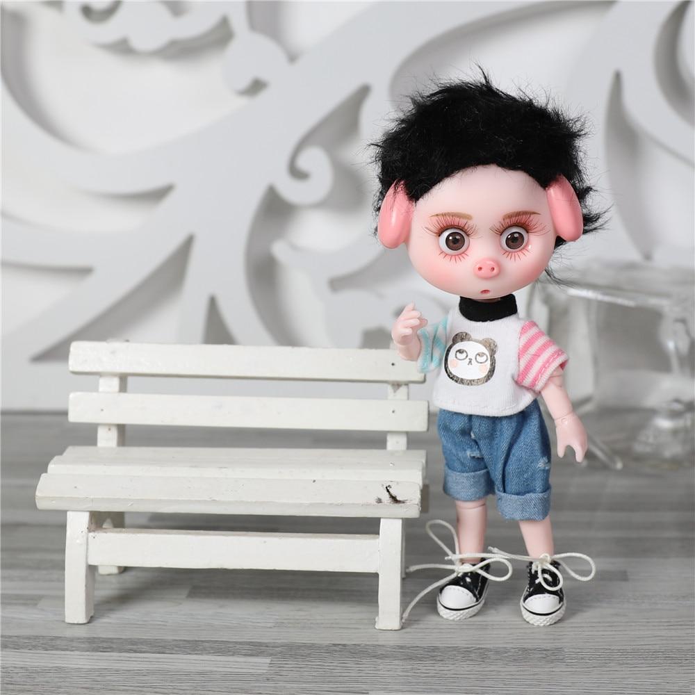 Dream Fairy 1/12 BJD DODO Doll 14cm mini doll 26 joint body Cute children gift toy ob11 8