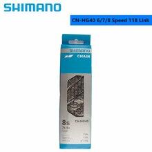 Shimano cn hg40 6/7/8 velocidade corrente 118l/116l ligação para bicicleta de estrada