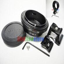 חצובה Canon FD עדשה למייקרו 4/3 M4/3 מתאם אולימפוס E PM1 E P2 E PL2 E PL3 Panasonic DMC GH1 GH2 GF2 GF7 G1 G2 G3 G10 + כובע