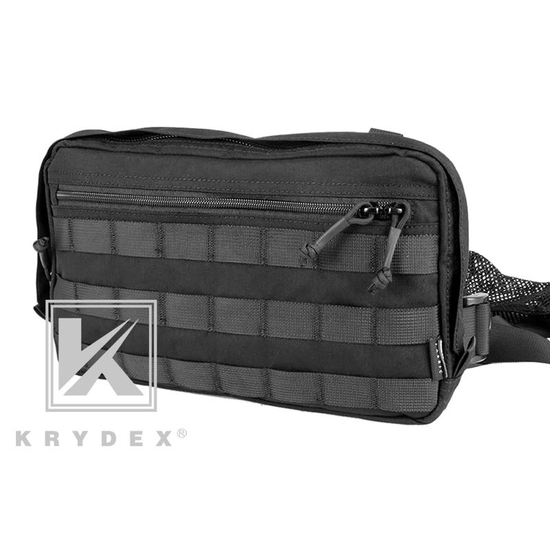 KRYDEX Chest Recon Bag Tool Pouch Combat Tactical Vest Pouch Bag Front Shoulder Strap Outdoor Hunting Vest Pouch Chest Pack BK