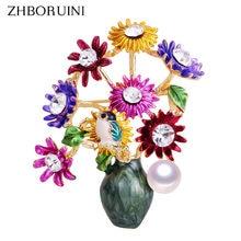 Новинка 2019 Высококачественная эмалированная брошь zhboruini