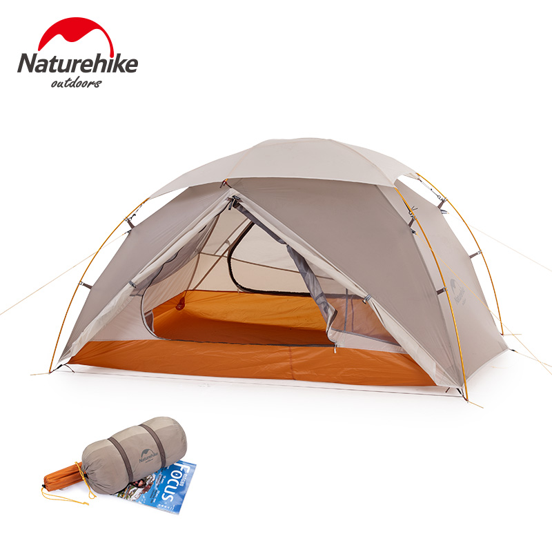 Naturehike 2019 New Tent Outdoor Camping hiking Ultralight Tent Nebula 20D Nylon Double Layers Snow-proof 1-2 Person tent image